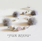 Украшения handmade. Livemaster - original item Necklace.Beads.Grey St.. Agatha. Handmade.