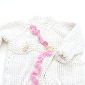 Работы для детей, handmade. Livemaster - original item Romper for newborn girl warm jumpsuit for a statement. Handmade.