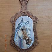 Посуда ручной работы. Ярмарка Мастеров - ручная работа Год лошади,доска разделочная. Handmade.