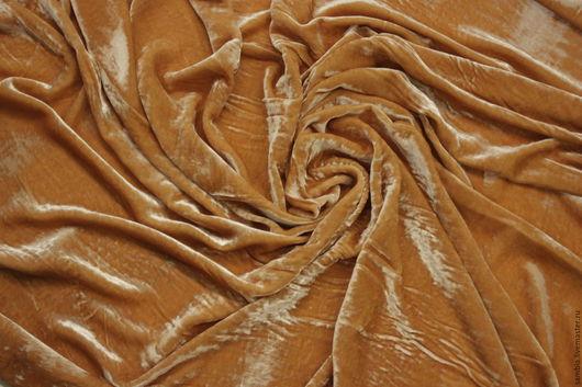 Шитье ручной работы. Ярмарка Мастеров - ручная работа. Купить Бархат шелковый(шелк-70%, вискоза-30%) персиковый Германия. Handmade.