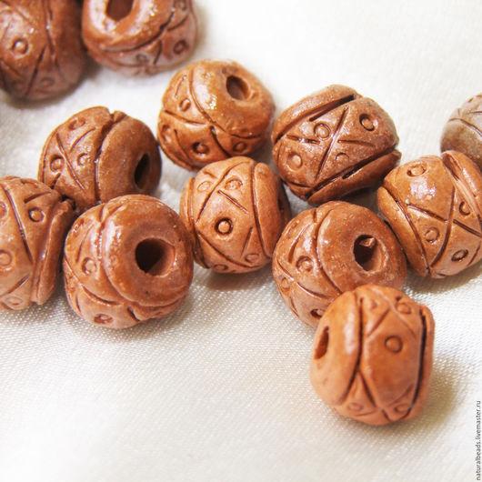 Для украшений ручной работы. Ярмарка Мастеров - ручная работа. Купить РЕЗНЫЕ РОНДЕЛИ керамика бусины Перу. Handmade.