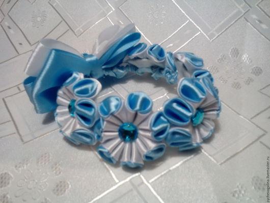 Детская бижутерия ручной работы. Ярмарка Мастеров - ручная работа. Купить резиночка на пучок. Handmade. Голубой, голубой цвет