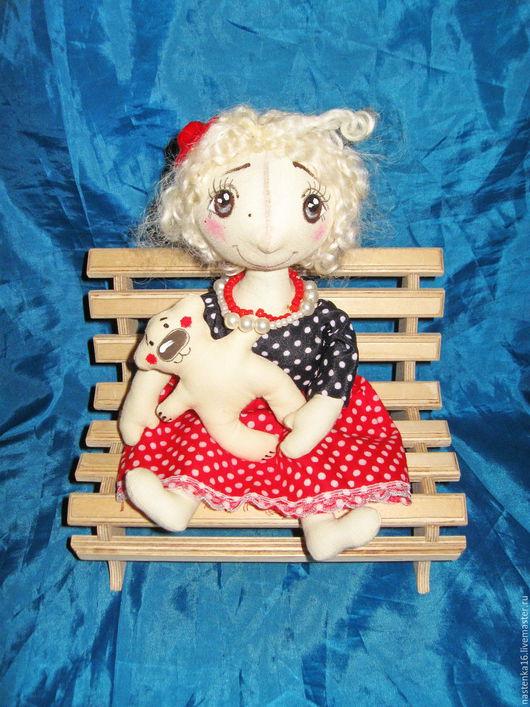 Коллекционные куклы ручной работы. Ярмарка Мастеров - ручная работа. Купить Куколка Горошинка. Handmade. Комбинированный, кукла в подарок, хлопок
