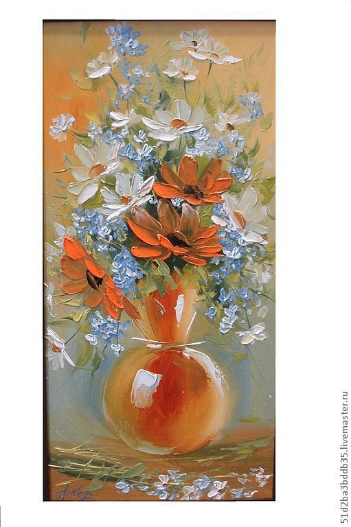 Картины цветов ручной работы. Ярмарка Мастеров - ручная работа. Купить Цветы в вазе. Handmade. Картина, картина в подарок