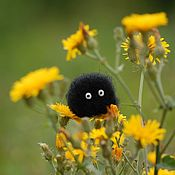 Куклы и игрушки handmade. Livemaster - original item Black Nigella (susuwatari) Toy from wool. Handmade.