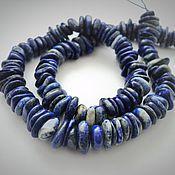 Материалы для творчества handmade. Livemaster - original item Lapis lazuli beads tumbling, 19cm strand. Handmade.