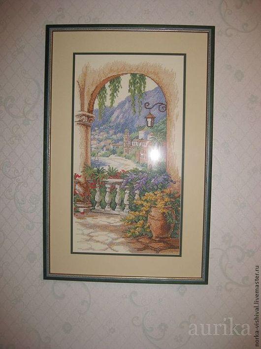 """Вышивка ручной работы. Ярмарка Мастеров - ручная работа. Купить Набор для вышивания  Dimensions """"Арка на террасе"""" (Terrace Arch). Handmade."""