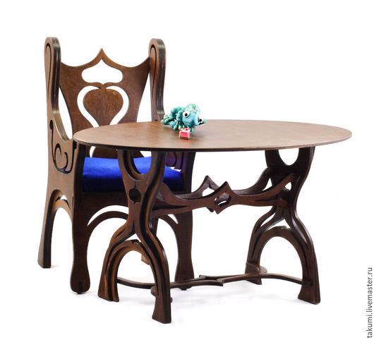 Кукольный дом ручной работы. Ярмарка Мастеров - ручная работа. Купить Обеденный стол Сказка. Handmade. Коричневый, кукольная миниатюра