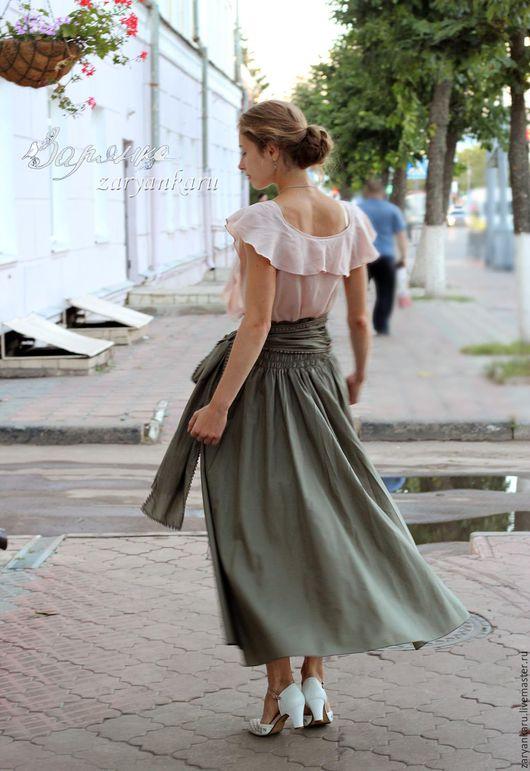 Юбки ручной работы. Ярмарка Мастеров - ручная работа. Купить Летящие юбка и блузка. Handmade. Юбка, юбка на каждый день