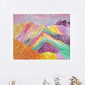 Картины и панно handmade. Livemaster - original item Picture rainbow mountains Peru 30h40 cm. Handmade.