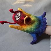 handmade. Livemaster - original item Rainbow. Glove puppet of Bi-BA-Bo.. Handmade.
