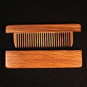 Сувениры и подарки handmade. Livemaster - original item Comb in the case of mahogany and burl walnut. Handmade.