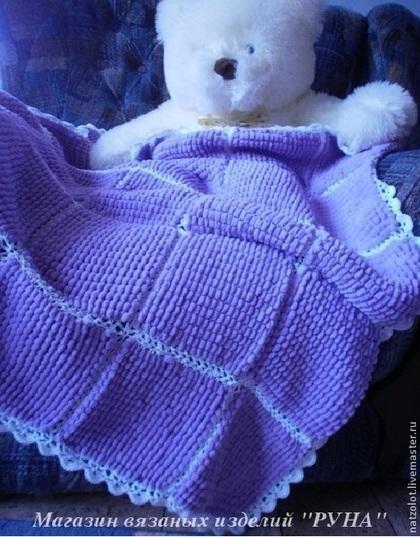 Пледы и одеяла ручной работы. Ярмарка Мастеров - ручная работа Детский вязаный плед. Handmade.