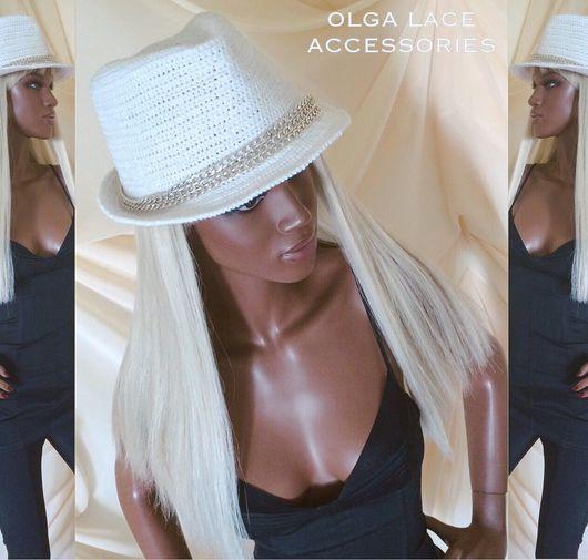 Шляпы ручной работы. Ярмарка Мастеров - ручная работа. Купить Вязаная шляпа трилби от Olga Lace. Handmade. Вязаная шляпа
