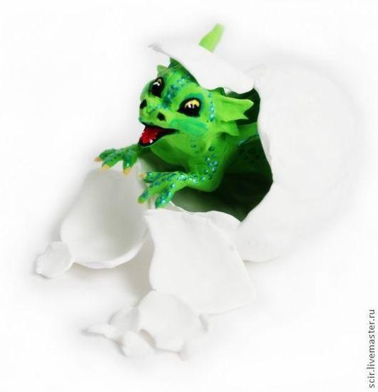 """Сказочные персонажи ручной работы. Ярмарка Мастеров - ручная работа. Купить фигурка """"Дракончик из яйца"""". Handmade. Дракон, драконы, дракончик"""
