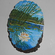Картины ручной работы. Ярмарка Мастеров - ручная работа Водяная Лилия. Handmade.