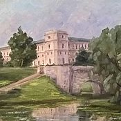 Pictures handmade. Livemaster - original item Oil painting. Landscape of Palace Park.. Handmade.