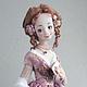 Коллекционные куклы ручной работы. Ярмарка Мастеров - ручная работа. Купить Лаура. Handmade. Розовый, интерьерная кукла, хлопковое кружево
