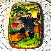 """Сувениры и подарки ручной работы. Ярмарка Мастеров - ручная работа Пряник имбирный расписной """"Богатырь"""" овал большой. Handmade."""