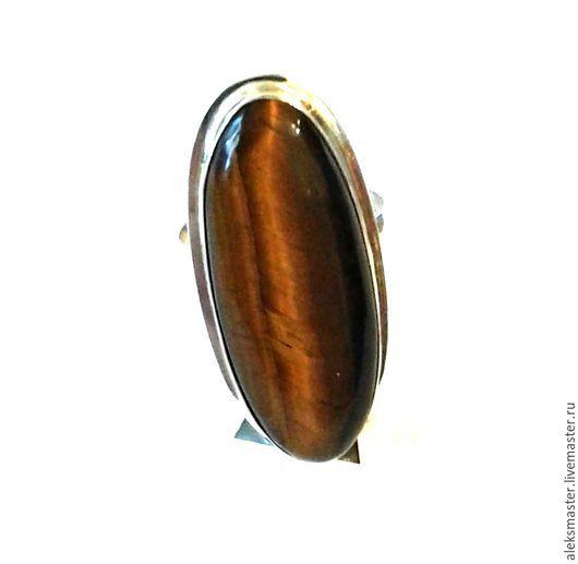Кольца ручной работы. Ярмарка Мастеров - ручная работа. Купить Кольцо с тигровым глазом. Handmade. Разноцветный, тигровый глаз натуральный