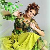 Одежда ручной работы. Ярмарка Мастеров - ручная работа сказки венского леса  платье костюм бохо. Handmade.