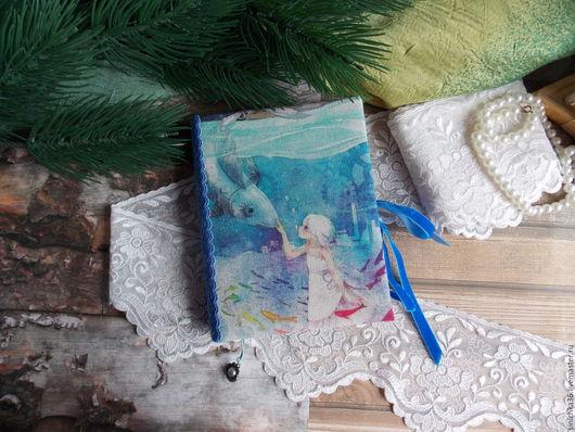 """Блокноты ручной работы. Ярмарка Мастеров - ручная работа. Купить Блокнот""""Рыбка моя"""". Handmade. Комбинированный, блокнот для девушки, ручная работа"""