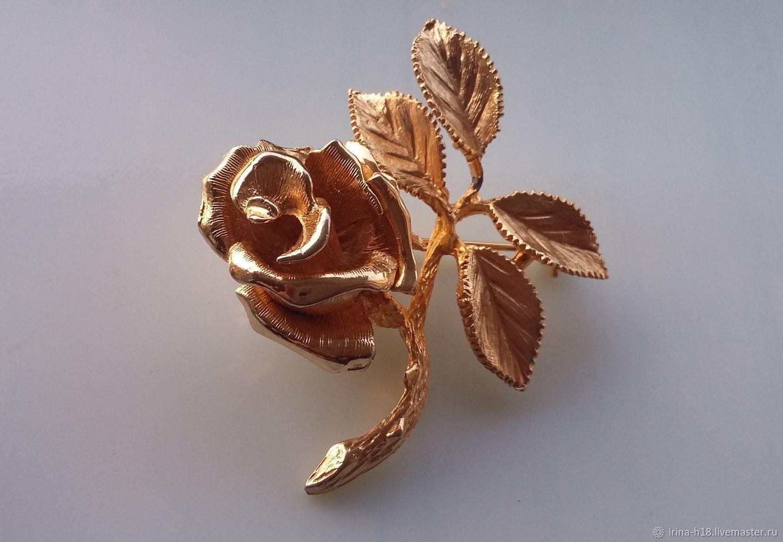 Broche rosa Ledo 1963 / Polcini, Vintage brooches, Blagoveshchensk,  Фото №1
