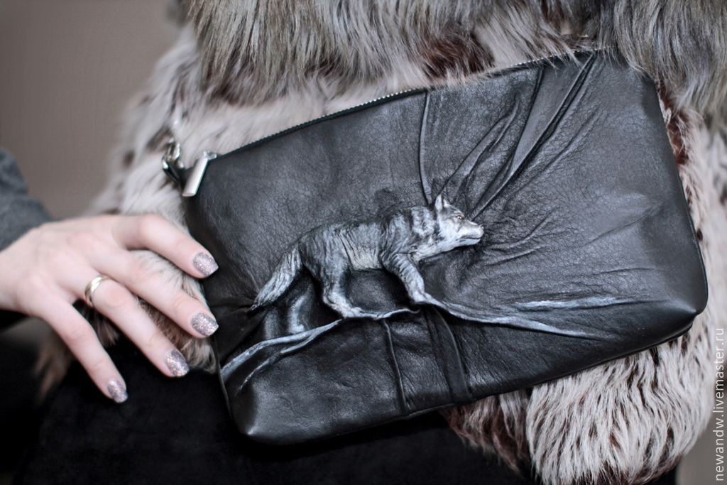 3D Bag genuine leather 'Grey wolf', Classic Bag, Moscow,  Фото №1