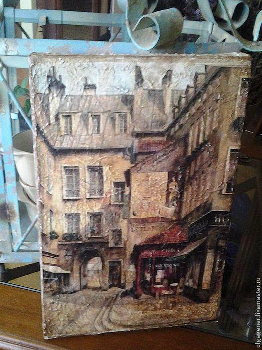 Город ручной работы. Ярмарка Мастеров - ручная работа. Купить Панно парное декоративное Парижское кафе-2 W0371. Handmade.