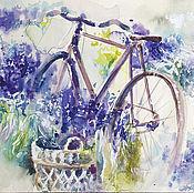 Картины и панно handmade. Livemaster - original item The lavender bike. Handmade.