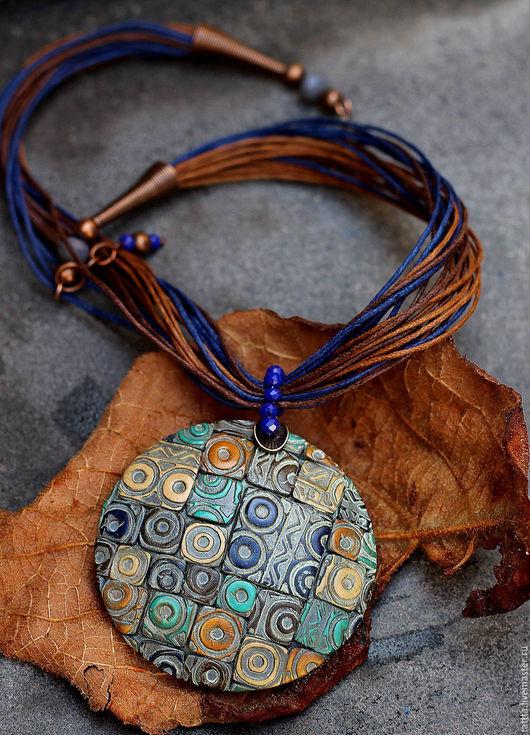 Кулоны, подвески ручной работы. Ярмарка Мастеров - ручная работа. Купить кулон полимерной глины мозаика с текстурой. Handmade. Разноцветный