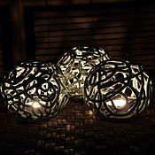 Для дома и интерьера handmade. Livemaster - original item Candleholder Confetti on ice. Handmade.