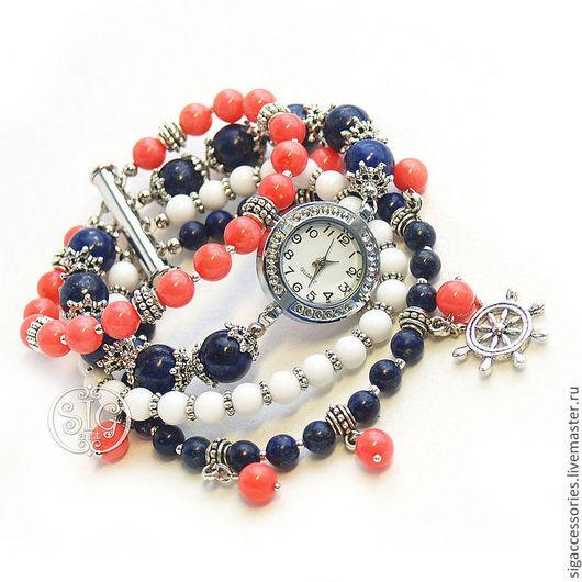 """Часы ручной работы. Ярмарка Мастеров - ручная работа. Купить """"Морская сказка"""" - часы-браслет. Handmade. Часы в морском стиле"""