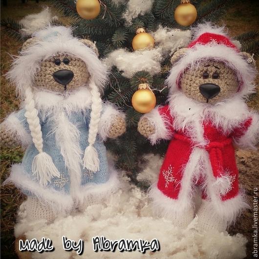 """Игрушки животные, ручной работы. Ярмарка Мастеров - ручная работа. Купить Мишки """"Дед Мороз и Снегурочка """". Handmade. Мишка"""