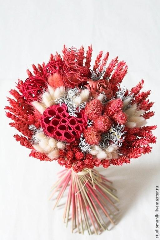 Букеты ручной работы. Ярмарка Мастеров - ручная работа. Купить букет из сухоцветов - Розочка. Handmade. Коралловый, сухоцветы, букет