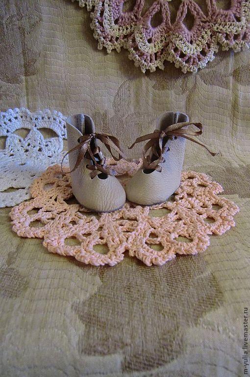 Одежда для кукол ручной работы. Ярмарка Мастеров - ручная работа. Купить Обувь для кукол и тедди. Высокие ботинки. Кожа .. Handmade.