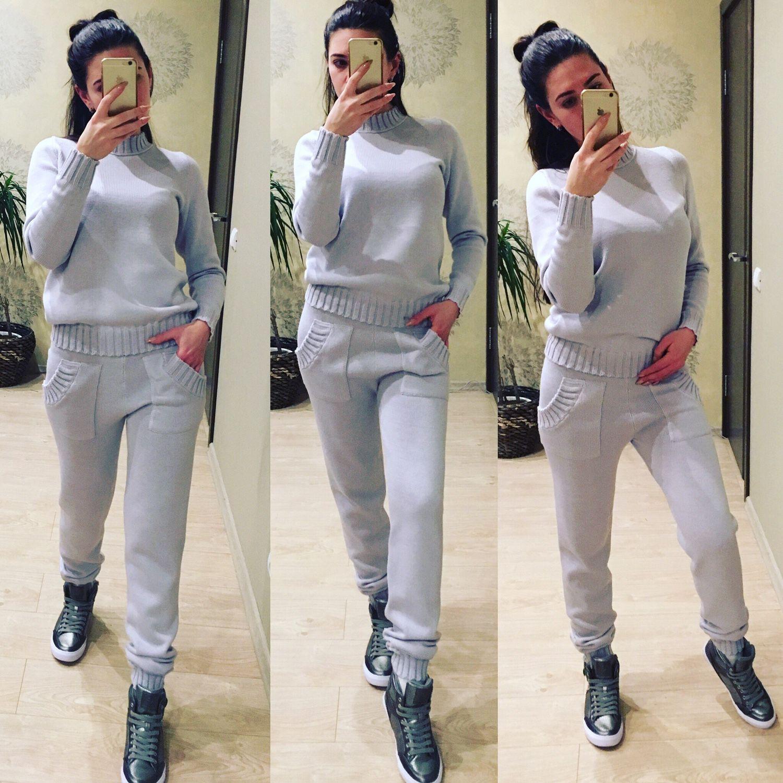 спортивный костюм вязаный утепленный купить в интернет магазине на