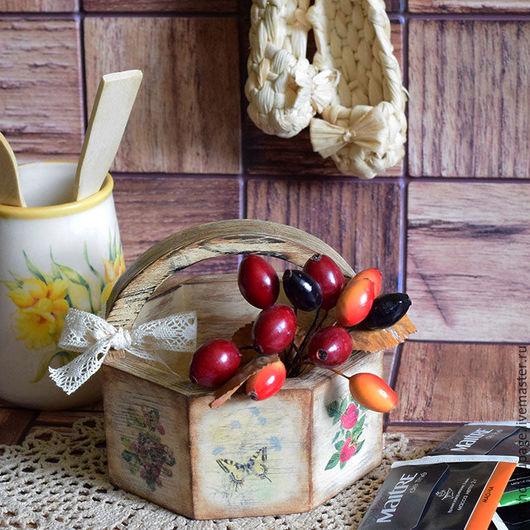 Кухня ручной работы. Ярмарка Мастеров - ручная работа. Купить Корзинка-лукошко-короб Дары леса. Handmade. Рыжий