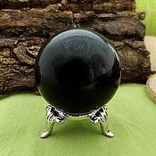 Фен-шуй и эзотерика handmade. Livemaster - original item A ball of black obsidian stand. Handmade.