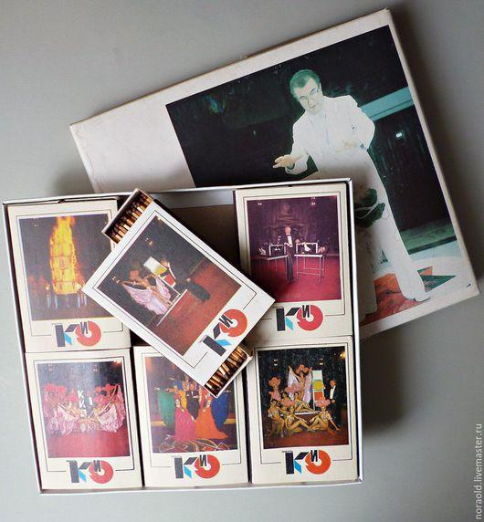 Сувенирные спички Советский цирк.Эмиль Кио. 1989г СССР винтаж филлумения