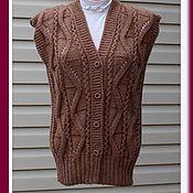 Одежда ручной работы. Ярмарка Мастеров - ручная работа Женский  жилет , вязаный ажурный жилет. Handmade.