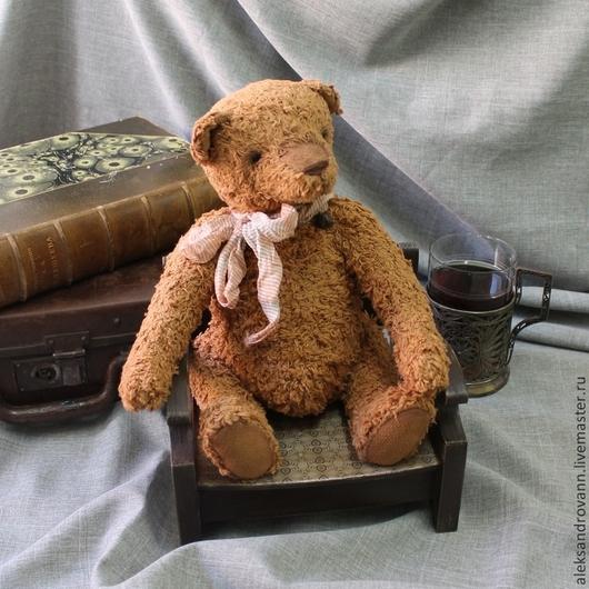 Мишки Тедди ручной работы. Ярмарка Мастеров - ручная работа. Купить Тедди мишка Ховард. Handmade. Коричневый, опилки, кресло