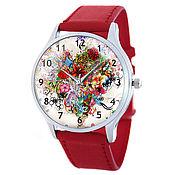 Дизайнерские наручные часы Яркие / red c
