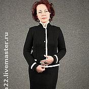 "Одежда handmade. Livemaster - original item Knitted suit ""Black-and-white classics"".. Handmade."
