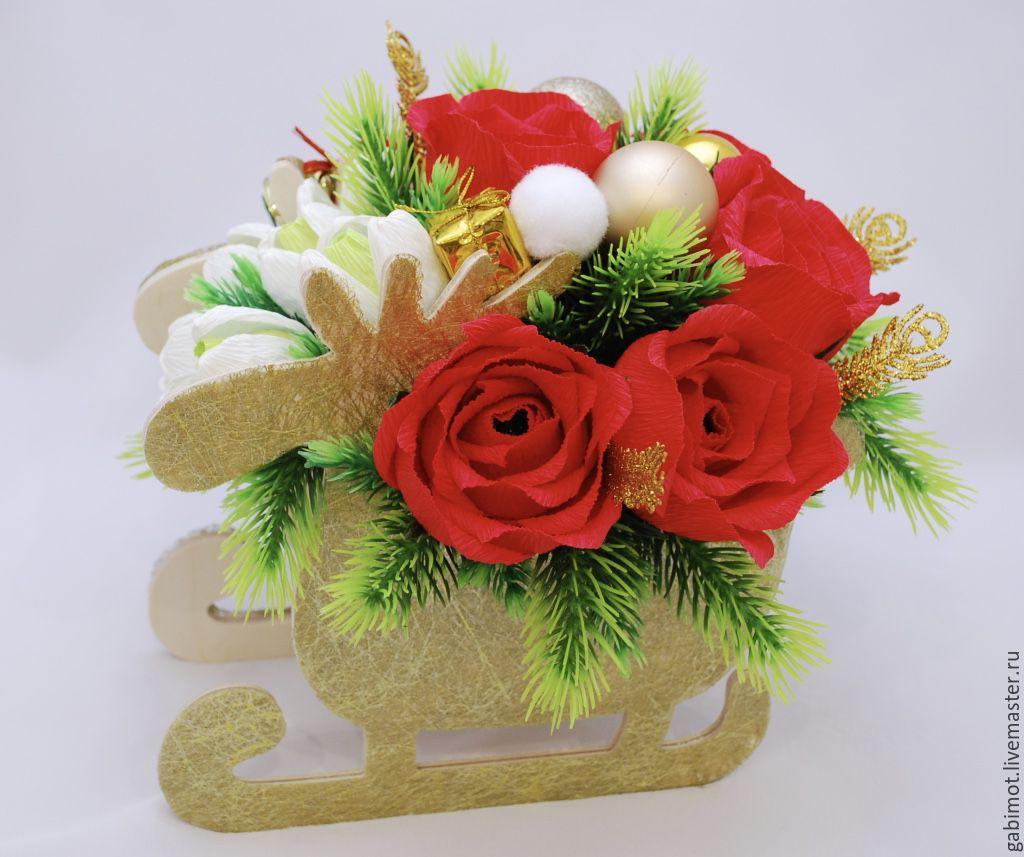 Праздничные букеты к новому году мастер класс, доставка цветов кузнецовск