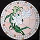 Мебель ручной работы. Ярмарка Мастеров - ручная работа. Купить Столик с мозаикой Белые лилии. Handmade. Белый, мозаика, лилии