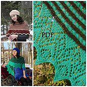 Материалы для творчества handmade. Livemaster - original item Instructions for knitting shawls Inflorescence, 2 edges. Handmade.