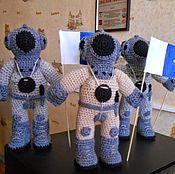 Мягкие игрушки ручной работы. Ярмарка Мастеров - ручная работа Водолаз игрушка. Водолаз вязаный талисман. Handmade.