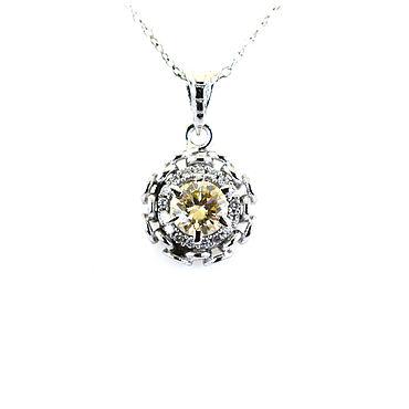 Decorations handmade. Livemaster - original item Pendant with a diamond