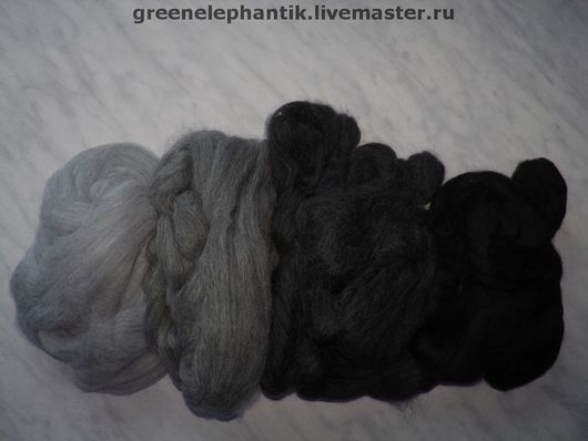 Шерсть альпака беби для валяния, гипоаллергенна и быстро сваливается, идеальна для валяния детских вещей и шарфов. Серые тона. Цена за 100 грамм